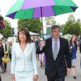 Carole et Michael Middleton à Wimbledon le 27 juin 2014