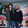 """Stéphane Demoustier et Olivier Gourmet - Avant-première du film """"Terre battue"""" au cinéma UGC Les Halles à Paris, le 16 décembre 2014"""