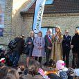 Camille Cerf, de retour dans sa région natale, en visite à Calais et à Coulogne, le samedi 20 décembre 2014.
