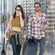 Kendall Jenner et Scott Disick quittent le magasin Saint Laurent à Beverly Hills, le 23 décembre 2014.