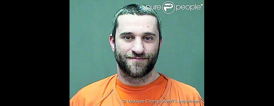 Dustin Diamond, sur son mugshot, pris dans le Wisconsin, le jeudi 25 décembre 2014.