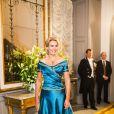 Helle Thorning-Schmidt, Premier ministre du Danemark, a une fois de plus fait sensation le 1er janvier 2015 à l'occasion de la réception du Nouvel An à Amalienborg, Copenhague.