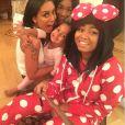 Mel B en compagnie de ses filles, en octobre 2014.