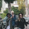 Exclusif - Ireland Baldwin et Angel Haze vont déjeuner avec une amie à Studio City le 30 décembre 2014