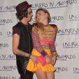 """Sara (Secret Story 8) et sa girlfriend Aurore - Cérémonie des """"Lauriers TV Awards 2015"""" à la Cigale à Paris, le 6 janvier 2015."""