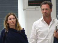 Geri Halliwell et Christian fiancés: Retour à Londres après un Nouvel An de rêve