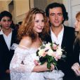 Justine Lévy et son père Bernard-Henri Lévy lors de son mariage avec Raphaël Enthoven