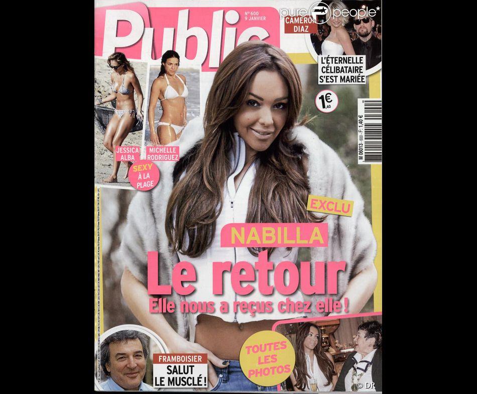 Nabilla en couverture du magazine Public, en kiosques le 9 janvier 2015