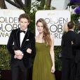 Eddie Redmayne et sa femme Hannah Bagshawe - La 72e cérémonie annuelle des Golden Globe Awards à Beverly Hills, le 11 janvier 2015