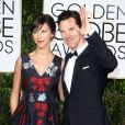Benedict Cumberbatch et sa fiancée Sophie Hunter enceinte - La 72e cérémonie annuelle des Golden Globe Awards à Beverly Hills, le 11 janvier 2015