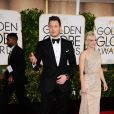 Chris Pratt et sa femme Anna Faris - La 72e cérémonie annuelle des Golden Globe Awards à Beverly Hills, le 11 janvier 2015