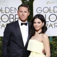 Channing Tatum et sa femme Jenna Dewan-Tatum - La 72e cérémonie annuelle des Golden Globe Awards à Beverly Hills, le 11 janvier 2015