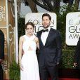 Emily Blunt et son mari John Krasinski - La 72e cérémonie annuelle des Golden Globe Awards à Beverly Hills, le 11 janvier 2015