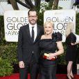 Eric White et sa petite-amie Patricia Arquette - La 72e cérémonie annuelle des Golden Globe Awards à Beverly Hills, le 11 janvier 2015