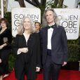 Patti Smith et son guitariste Lenny Kaye - La 72e cérémonie annuelle des Golden Globe Awards à Beverly Hills, le 11 janvier 2015