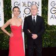 Lucina Duvali et Robert Duvall - La 72e cérémonie annuelle des Golden Globe Awards à Beverly Hills, le 11 janvier 2015