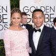 Chrissy Teigen et John Legend - La 72e cérémonie annuelle des Golden Globe Awards à Beverly Hills, le 11 janvier 2015