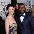 David Oyelowo et sa femme Jessica - La 72e cérémonie annuelle des Golden Globe Awards à Beverly Hills, le 11 janvier 2015