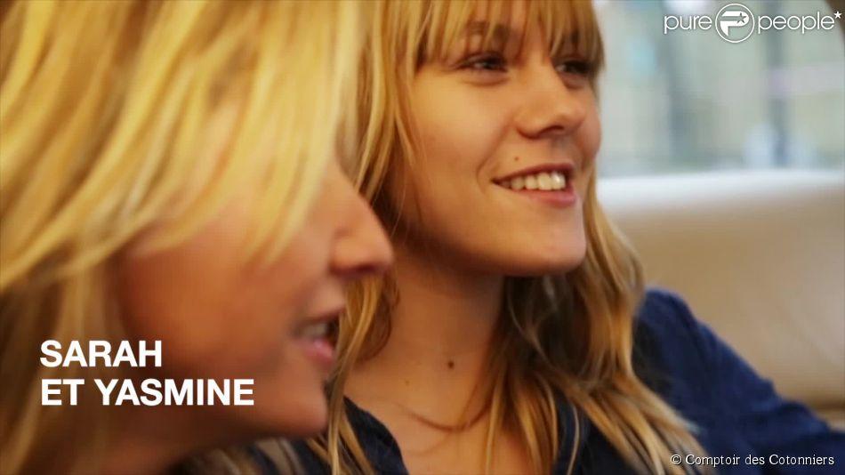 Sarah lavoine et sa fille yasmine duo complice pour une - Comptoir des cotonniers mere et fille ...