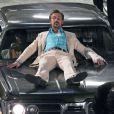 """Exclusif - Ryan Gosling sur le tournage de """"The Nice Guys"""" à l'hôtel Hilton à Atlanta, le 4 décembre 2014"""