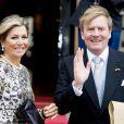 La reine Maxima et le roi Willem Alexander des Pays-Bas lors de la réception du corps diplomatique pour la réception des voeux du Nouvel An, au palais royal à Amsterdam le 14 janvier 2015.