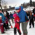 Le prince Haakon et la princesse Mette-Marit de Norvège donnaient le coup d'envoi de l'Année 2015 des loisirs en plein air, le 13 janvier 2015 à Oslo.