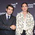 Charlotte Casiraghi et Jérôme Lambert, CEO de Montblanc lors du dîner Montblanc organisé à Genève en marge du SIHH le 19 janvier 2014