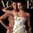 Irina Shayk et Cristiano Ronaldo en couverture du magazine Vogue Espana. Juin 2014.