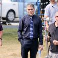 Exclusive - Wentworth Miller alias Leonard Snart ou le Captain Cold sur le tournage de la série The Flash le 6 août 2014 à Vancouver
