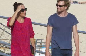 Simon Baker et son épouse : Promenade en amoureux... sans les enfants !