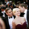 George Clooney et Ellen Barkin à Cannes le 24 mai 2007.