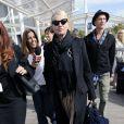 Ellen Barkin et un ami arrivent à Venise pour le mariage de George Clonney et Amal Alamuddin, le 26 septembre 2014.
