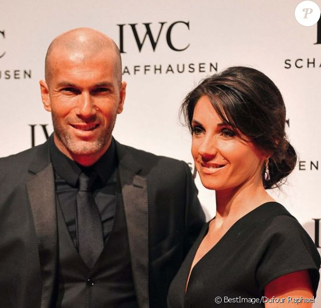 Zinédine Zidane et Véronique lors de la soirée IWC Schaffhausen Race Night à l'occasion du salon international de la Haute Horlogerie (SIHH) 2013 à Genève en Suisse le 22 Janvier 2013