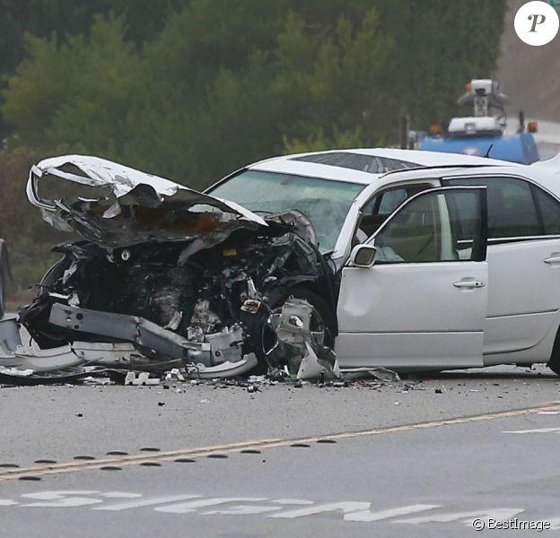 Photo de l'accident de voiture provoqué par Bruce Jenner à Malibu le 7 février 2015. L'accident implique quatre voitures et a fait un mort et plusieurs blessés.