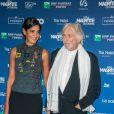 Pierre Richard et sa femme Ceyla Lacerda lors de la 5e de la cérémonie des Magritte du cinéma belge à Bruxelles le 7 février 2015