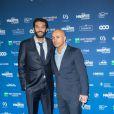 Ramzy Bedia et Eric Judor lors de la 5e de la cérémonie des Magritte du cinéma belge à Bruxelles le 7 février 2015