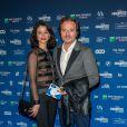 Patrick Ridremont et sa compagne Sarah Van Elst lors de la 5e de la cérémonie des Magritte du cinéma belge à Bruxelles le 7 février 2015