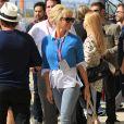 """Pamela Anderson (sac Alaïa) - People au grand prix de formule 1 """"Circuit of The Americas"""" à Austin, le 2 novembre 2014.  Celebrities at the United States Formula One Grand Prix at Circuit of The Americas on November 2, 2014 in Austin, Texas.02/11/2014 - Austin"""