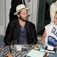 Rick Salomon et Pamela Anderson - Soirée Vanity Fair Armani à l'Eden Roc au cap d'Antibes le 17 mai 2014 - 67 ème festival du film de cannes 2014  67th Cannes Film Festival Cap D'Antibes (France) Party Vanity Fair and Armani 17-May-201417/05/2014 - Cannes