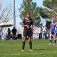 Natalia Diamante, la fille de Kobe Bryant, lors d'un match de foot du côté de Lancaster à Los Angeles, le 15 février 2015