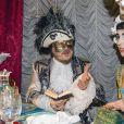 """Exclusif - Zucchero et sa jolie compagne Francesca Mozer - Ballet du Doge """"Cupidon au pays des merveilles"""" à l'occasion du Carnaval de Venise le 14 février 2015."""