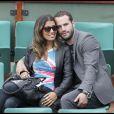 Frédéric Michalak et sa compagne Cindy, à Roland-Garros le 31 mai 2010 à Paris