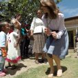La princesse Mary de Danemark lors de sa visite en Ethiopie, du 16 au 18 février 2015, en tant que marraine du Fonds des Nations unies pour la population et marraine du Conseil danois pour les réfugiés.