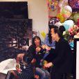 Rihanna célèbre ses 27 ans, le 20 février 2015 : ici avec ses meilleures amies Melissa Forde, Alex Sonita et Leelee Boo