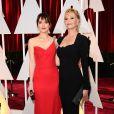 Melanie Griffith et sa fille Dakota Johnson - 87e cérémonie des Oscars à Hollywood, le 22 février 2015.