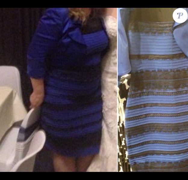 Le DressGate : Cette même robe est perçue de manière différente. Certains la voit bleue et noire, d'autres la voient blanche et dorée
