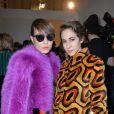 Noomi Rapace et Delfina Fendi Delettrez assistent au défilé Fendi automne-hiver 2015-2016 à Milan. Le 26 février 2015.