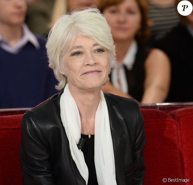 """Francoise Hardy - Enregistrement de l'émission """"Vivement Dimanche"""" à Paris le 24 septembre 2013."""