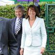 Carole et Michael Middleton à Wimbledon à Londres le 27 juin 2014.