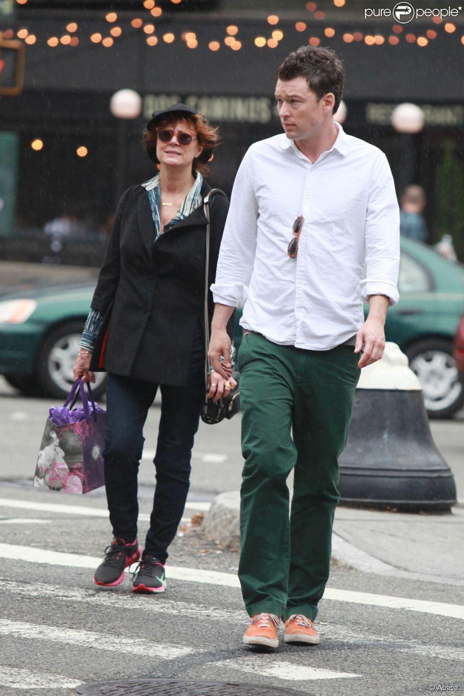 Susan Sarandon et Jonathan Bricklin à New York le 13 septembre 2014